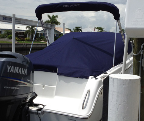 Navy Blue Boat Canvas Cover