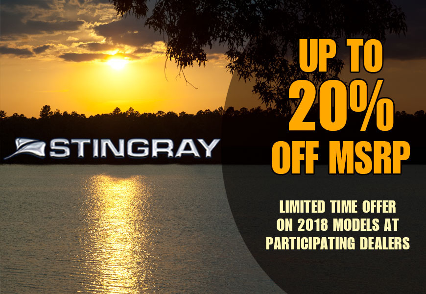 Stingray Boats: MSRP Price Drop Sale!