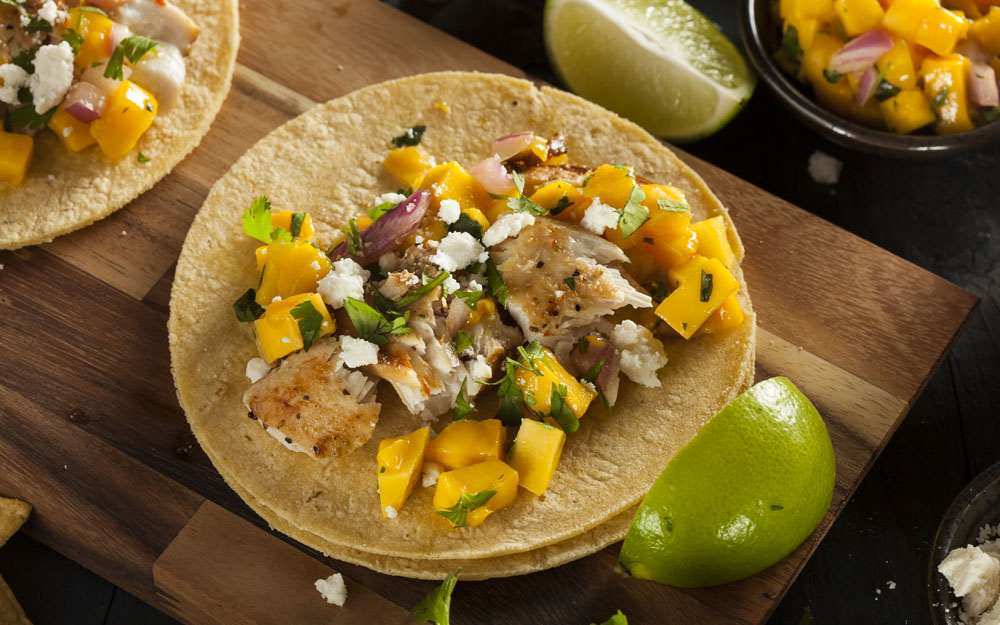 Grilled Mahi Street Tacos With A Citrus Vinaigrette