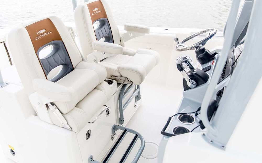 19 Cobia 320CC Cockpit Folding Seats