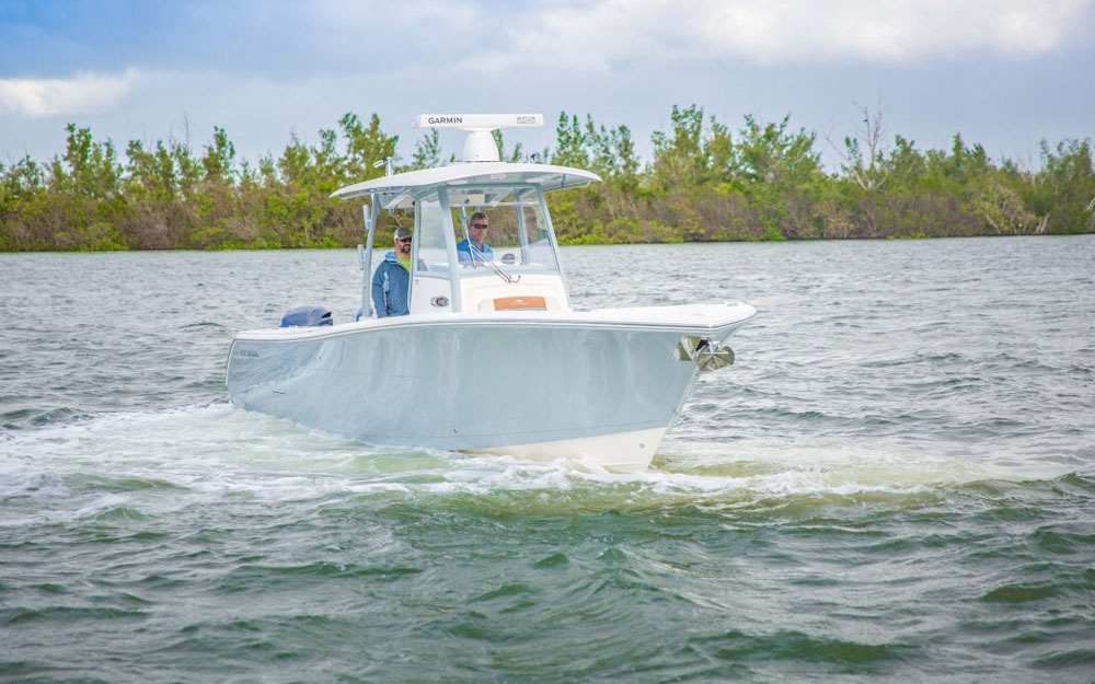 19 Cobia 320 CC In Motion