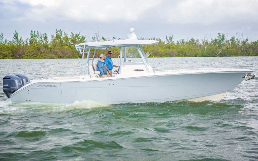 2019 Cobia 320 CC On Water