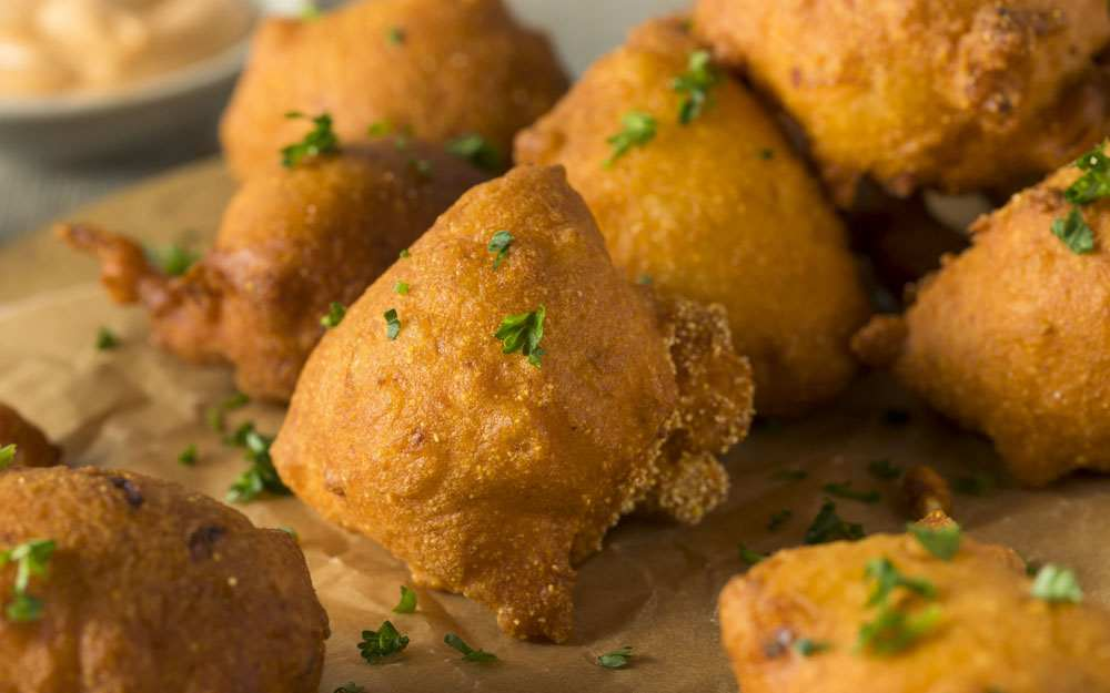 Golden Fried Hush Puppies