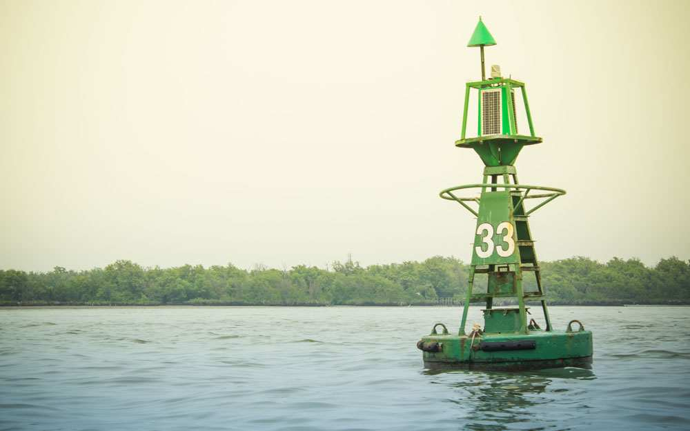 Green Channel Marker Buoy