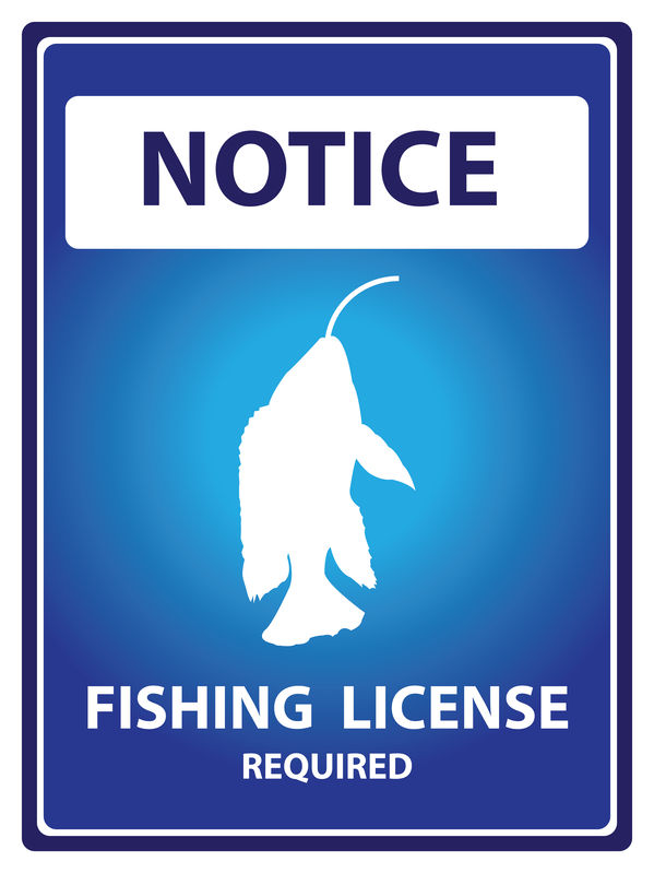 Fishing License Sign