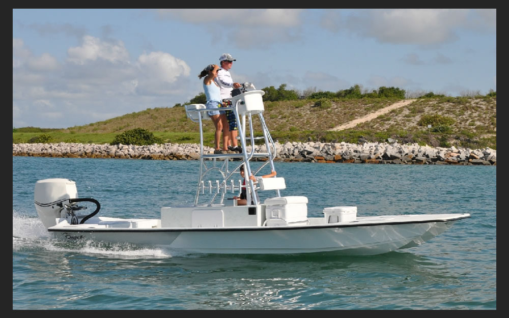 Shoalwater 23 Cat Raised Console Tower