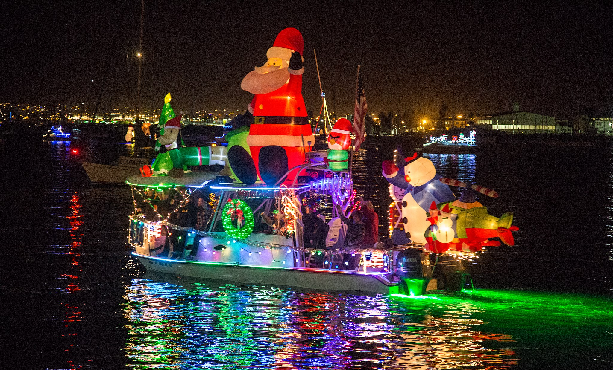 Preparing For The Annual Holiday Boat Parade